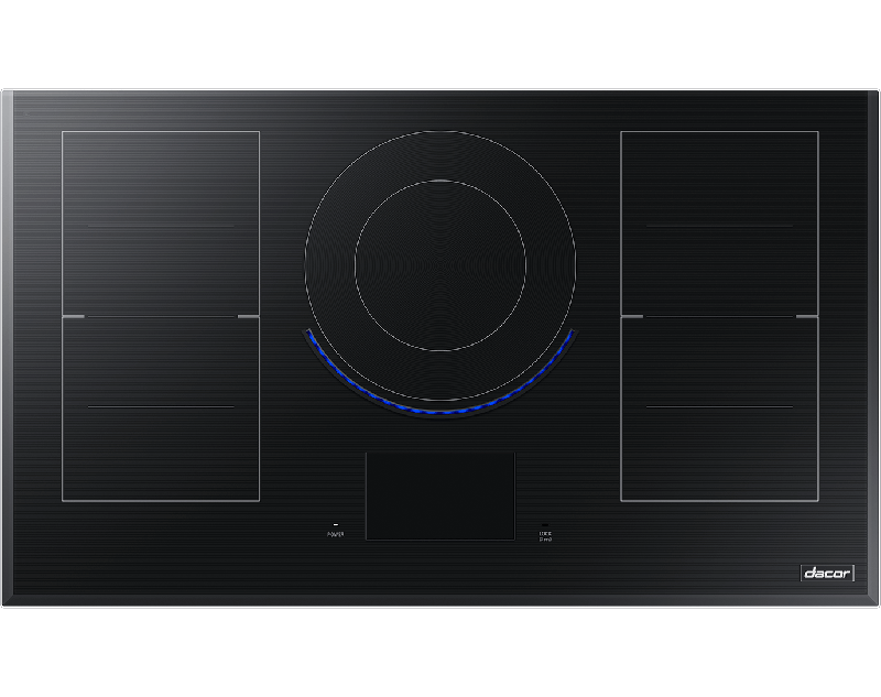 A Dacor contemporary style 36 inch induction cooktop.
