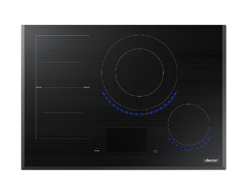 A Dacor contemporary style 30 inch induction cooktop.