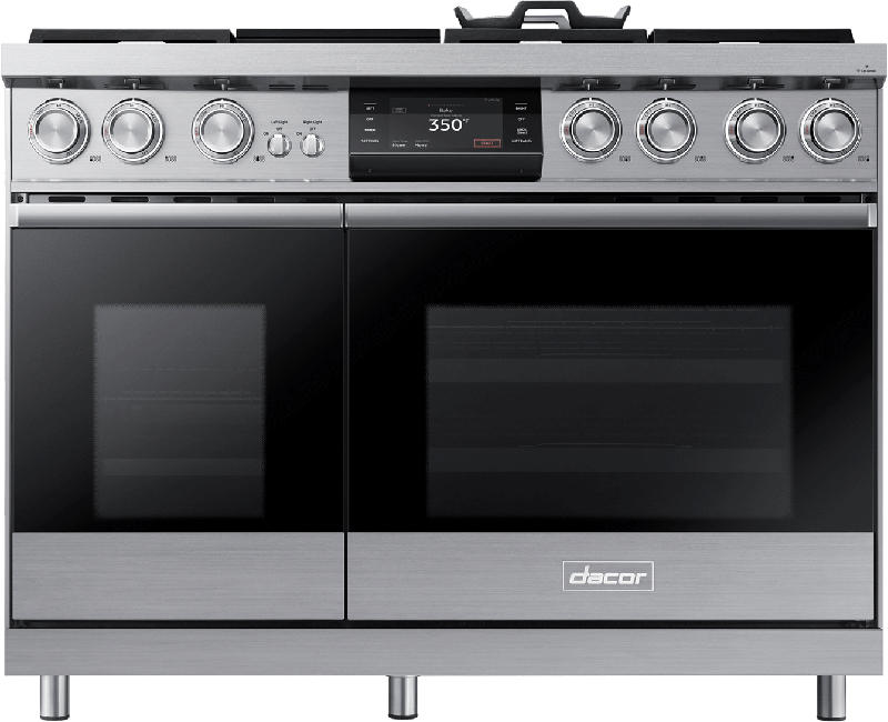 48 inch Dual-Fuel Steam Range w/Griddle - Contemporary