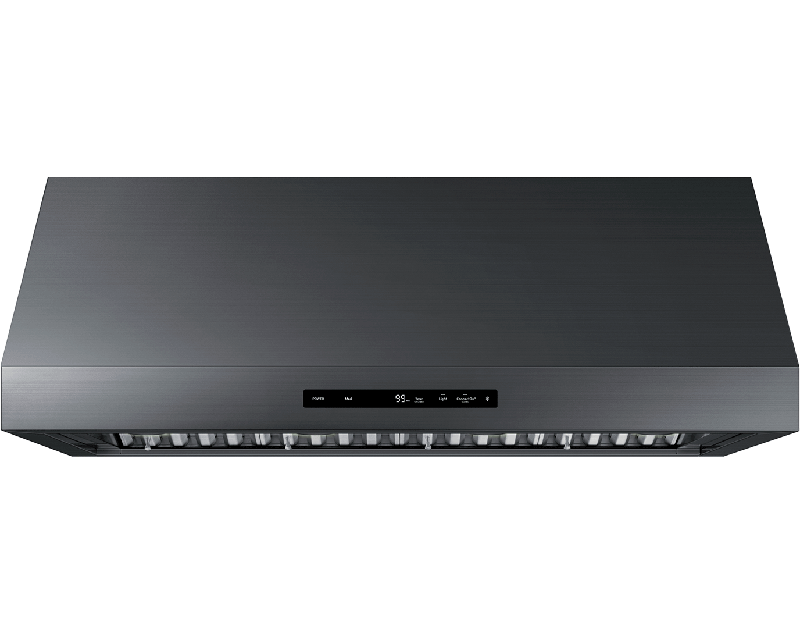 A graphite Dacor 48 inch wall hood with connectivity.
