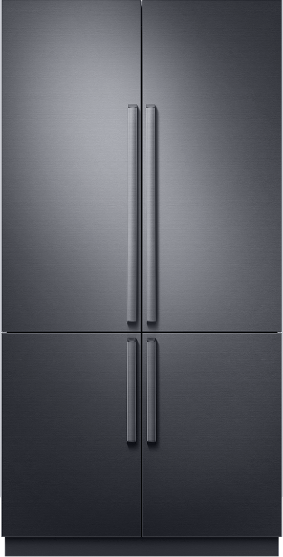A Dacor French door refrigerator.