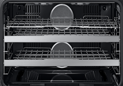 The oven interior of a Dacor contemporary style 36 inch gas range.