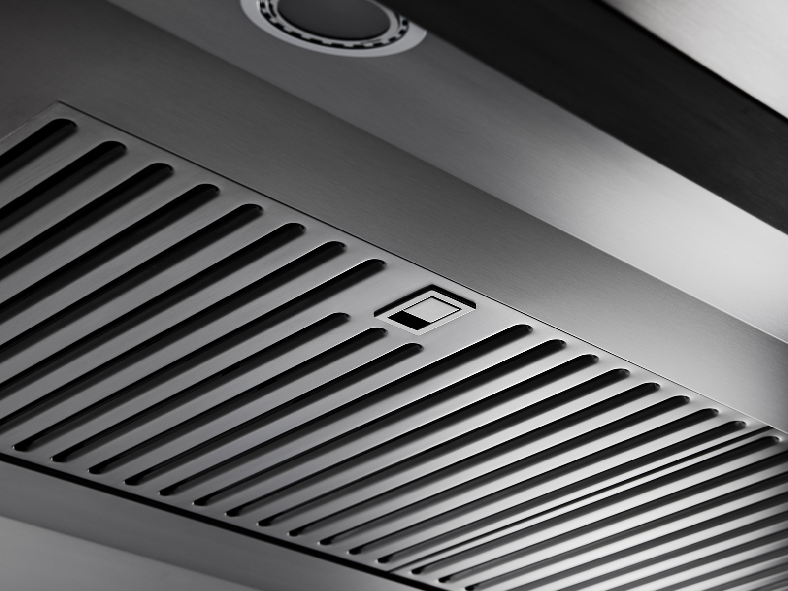 The grill of a Dacor ventilation hood.