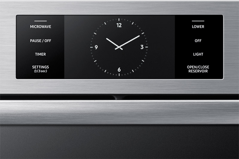 The control panel of a Dacor contemporary style 30 inch combination wall oven.