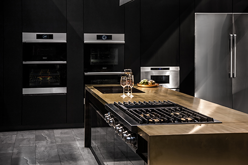 A kitchen featuring Dacor luxury kitchen appliances.